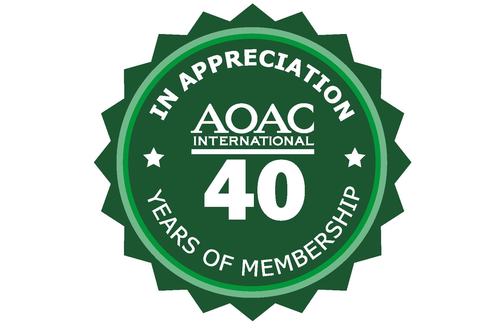 40 year Membership Pin